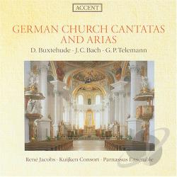 Buxtehude / Jacobs / Kuijken Consort - German Church Cantatas and Arias CD Cover Art