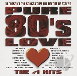 Pure 80's Love: The #1 Hits CD Cover Art