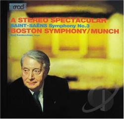Munch, Charles - Saint Saens Symphonie No 3 In C Minor CD Cover Art