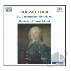 Boismortier - Boismortier: 6 Concertos for Five Flutes / Concert Spirituel CD Cover Art
