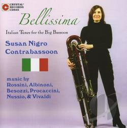 Contrabassoon / Lindeblad / Nigro, Susan - Bellissima: Italian Tunes for the Big Bassoon CD Cover Art