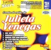 Venegas, Julieta - Karaoke Latin Stars CD Cover Art