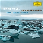 Emerson String Quartet / Grieg / Nielsen / Sibeliu - Intimate Voices CD Cover Art