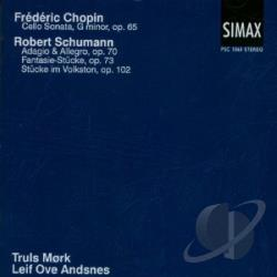 Andsnes / Chopin / Mork / Schumann - Frdric Chopin: Cello Sonata; Robert Schumann: Adagio & Allegro; Fantasie-Stcke, Op. 73; Stcke im Volston CD Cover Art