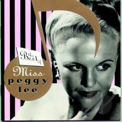 Lee, Peggy - Best of Miss Peggy Lee CD Cover Art
