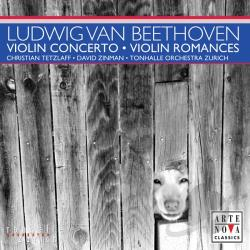 Tetzlaff: VLN / To / Zinman: cnd - Beethoven: Violin Concerto; Violin Romances CD Cover Art