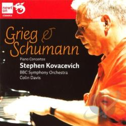 BBC SO / Davis / Grieg / Kovacevic - Grieg, Schumann: Piano Concertos CD Cover Art