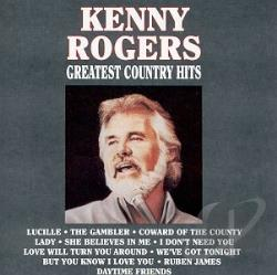 Rogers, Kenny - Greatest Country Hits CD Cover Art