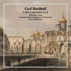 Latvian Nat'L Sym / Mikkelsen / Tchaikovsky / Yang - Carl Davidoff: Cello Concertos Nos. 1 & 2 CD Cover Art