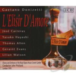 Carreras / Donizetti / San Francisco Opera - Donizetti: L'Elisir D'Amore CD Cover Art