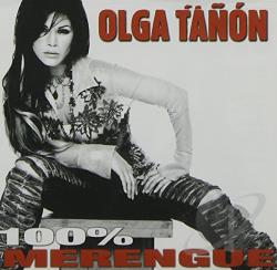 Tanon, Olga - 100% Merengue CD Cover Art
