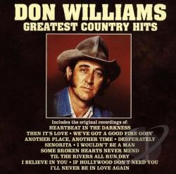 Williams, Don - Greatest Country Hits CD Cover Art
