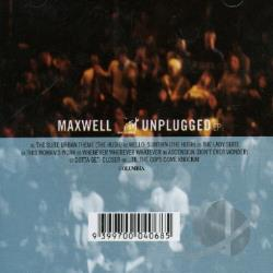 Maxwell, - MTV Unplugged CD Cover Art