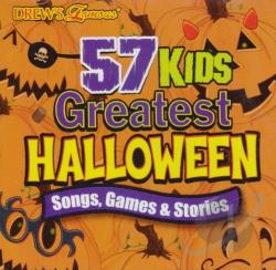Drew's Famous - Drew's Famous 57 Greatest Kids Halloween: Songs Games and Stories CD Cover Art