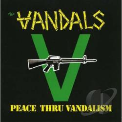Vandals - Pleace Thru Vandalisme CD Cover Art