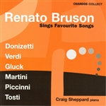 Bruson, Remato - Favourite Songs by Donizetti, Verdi, Gluck, Martini, Piccini, Tosti CD Cover Art