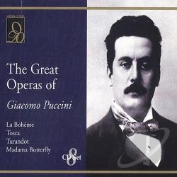 Great Operas of Giacomo Puccini CD Cover Art