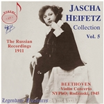Heifetz Jascha: VN - Jascha Heifetz Collection, Volume 5: The Russian Recordings, 1911 CD Cover Art