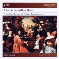 Leonhardt, Gustav - Bach: French Suites; Inventions & Sinfonias CD Cover Art