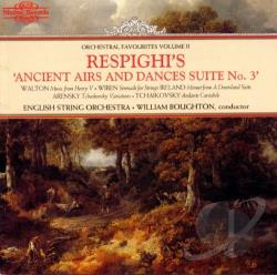 Boughton:cnd / Eng.String Orc - Respighi's Ancient Airs and Dances Suite No. 3 CD Cover Art