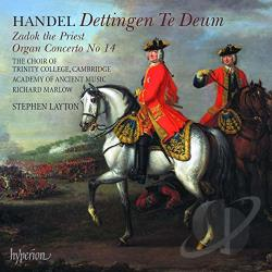 Aam / Choir Of Trinity College / Handel / Layton - Handel: Dettingen Te Deum; Zadok the Priest; Organ Concerto No. 14 CD Cover Art