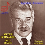 Schnabel, Artur - Arthur Schnabel Plays Bach CD Cover Art