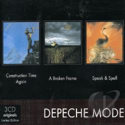 Depeche Mode - A Broken Frame/Construction Time Again/Speak & Spell CD Cover Art