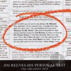 Reeves, Jim - His Personal Best-The Greatest Hits CD Cover Art