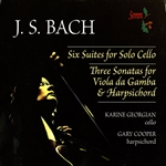 Cooper / Georgian, Karine:vc - Bach: Six Suites for Solo Cello; Three Sonatas for Viola da Gamba & Harpsichord CD Cover Art