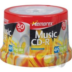 CD-R80da Music - CD-R - 700MB, 50 Pack Spindle Cover Art