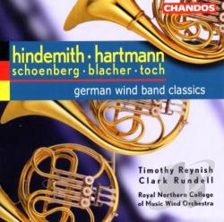 Blacher / Hartmann / Hindemith / Schoenberg / Toch - German Wind Band Classics CD Cover Art