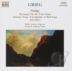 Arnesen / Eriksen / Grieg - Grieg: Songs CD Cover Art