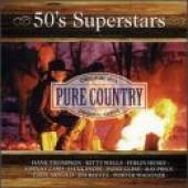 Various Artists - Pure Country - 50's Superstars CD Cover Art