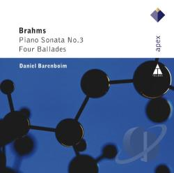 Barenboim, Daniel / Brahms - Brahms: Piano Sonata No. 3; Four Ballades CD Cover Art