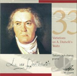 Nikolaeva, Tatiana: pno - Beethoven: 33 Variations in C on a Waltz CD Cover Art
