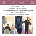 Bernstein / Gershwin / Mortier / Rodgers - Summertime: Music for Clarinet Quartet CD Cover Art