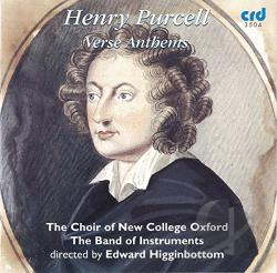 Choir Of New College Oxford - Purcell: Verse Anthems CD Cover Art