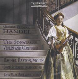 Barton / Handel / Rozendaal / Schrader - Handel: The Sonatas for Violin and Continuo CD Cover Art