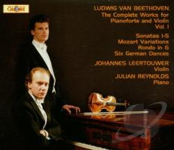 Leertouwer / Reynolds - Ludwig van Beethoven: The Complete Works for Pianoforte and Violin, Vol. 1 CD Cover Art