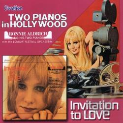 Aldrich, Ronnie - Two Pianos in Hollywood/Invitation to Love CD Cover Art