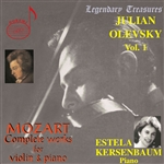 Kersenbaum: pno / Olevsky: vln - Mozart: Complete works for violin & piano CD Cover Art