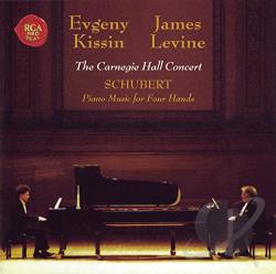 Kissin, Evgeny / Levine, James - Schubert: Piano Music for Four Hands - The Carnegi Hall Concert CD Cover Art