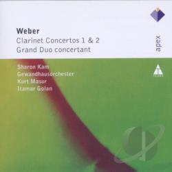 Gewandhausorch / Golan / Kam / Masur / Von Weber - Weber: Clarinet Concerto 1 & 2; Grand Duo Concertant CD Cover Art