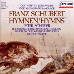 Schubert - Hymns CD Cover Art