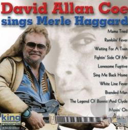 Coe, David Allan - Sings Merle Haggard CD Cover Art. Large Front