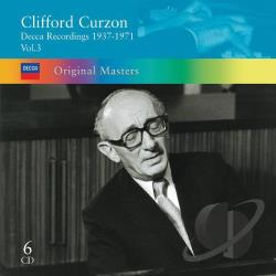Curzon Sir Clifford - Clifford Curzon: Decca Recordings, 1937-1971, Vol. 3 CD Cover Art