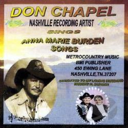 Chapel, Don - Don Chapel Sings Anna Marie Burden Songs CD Cover Art