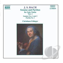 Bach - Bach: Sonatas And Partitas For Solo Violin, Vol. 1 CD Cover Art
