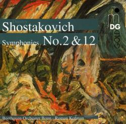 Kofman, Roman - Shostakovich: Symphonies Nos. 2 & 12 CD Cover Art