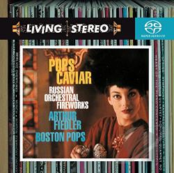 Boston Pop / Fiedler - Pops Caviar: Russian Orchestral Fireworks CD Cover Art